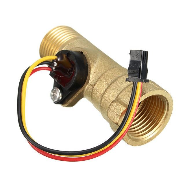 DC-5V-15mA-Brass-1-2-inch-Thread-Hall-efekt-Water-Flow-Sensor-Switch-Flow-Meter